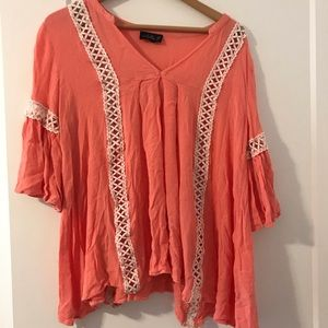 Tops - Coral tunic top